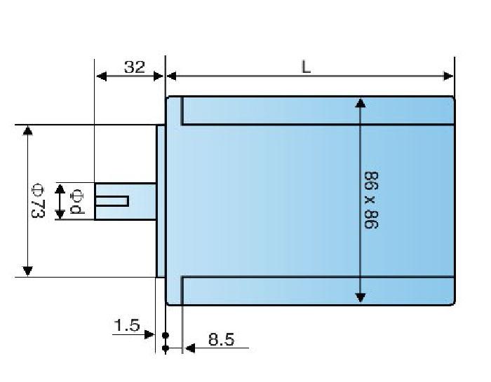 86BYG350A 86BYG350B 86BYG350C 3-phase Motor